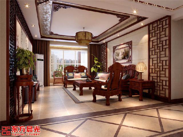 本套别墅案例为简中式风格的设计
