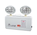 敏華應急照明橢圓鐵頭凸面鏡雙頭應急照明燈