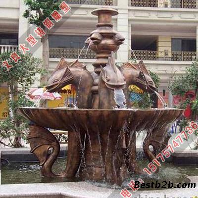 定制铜喷泉广场喷泉雕塑