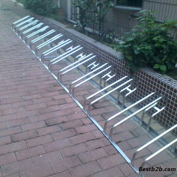 名称:304不锈钢卡位式自行车停车架 二,自行车停车架产品详细规格图片