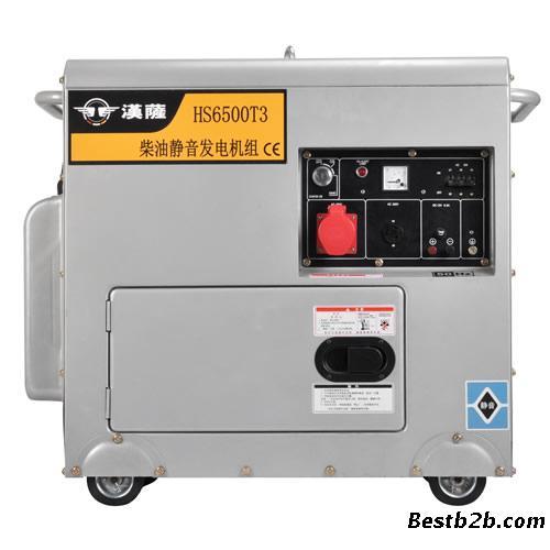 汉萨5kw三相静音柴油发电机