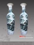 景德鎮陶瓷器手繪落地大花瓶高擺件中式客廳裝飾禮