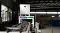 出售二手木工機械設備燦高重型推進式高頻拼板機
