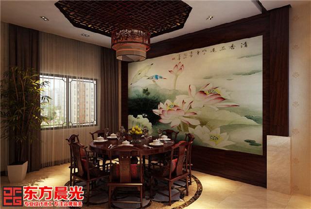 中式古典别墅装修设计素淡雅静
