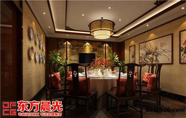 东方晨光承接中式饭店设计装修项目