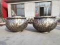銅雕鑄銅缸生產 定做鑄銅缸 唐縣祥獅雕塑品