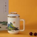 年終嘉獎禮品茶杯定制公司商標