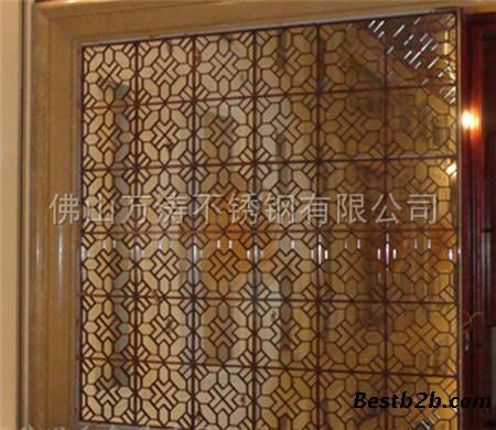 玫瑰金不锈钢屏风的属性有中式