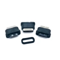 TYPE-C防水母座 2P簡易焊線式母座 帶防水膠圈