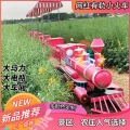 騎乘式觀光小火車網紅景區農莊定制軌道觀光小火車人氣高