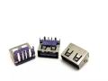 USB2.0母座10.0單層6.8無邊 紫膠大電流