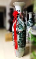 西安青花錦繡山河仿古陶瓷大花瓶