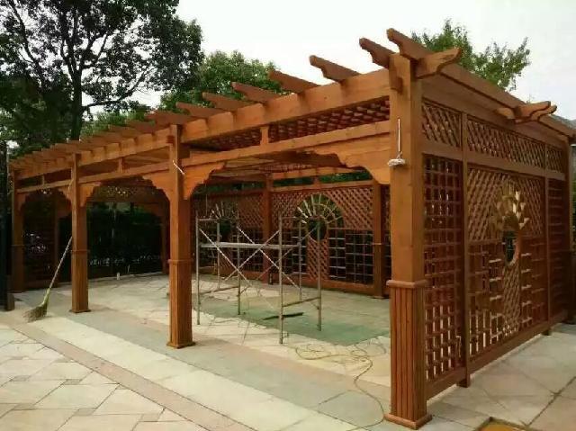 出售青岛防腐木廊架,葡萄架,花架
