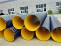 排污钢带波纹管£¬大口径增强聚乙烯螺旋波纹管