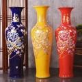 落地花瓶大號歐式花屏擺件客廳干插花玄關裝飾