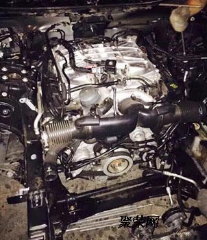路虎揽胜发现者5.0t发动机 涡轮增压器三元催化 氧传感器