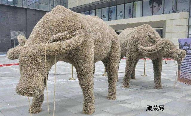 华耀工艺品 稻草人工艺品人物动漫订制 景观设计主题喜羊羊