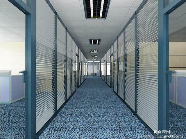 深圳华强南办公室装修,写字楼玻璃隔墙,强弱电布线