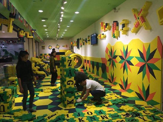 乐高大型韩国进口积木城堡室内儿童乐园厂家梦航玩具
