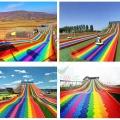 景區農莊大型七彩旱雪滑道彩虹滑道游樂設備吸引人氣