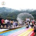 湖南湘潭戶外網紅橋搖擺橋搭配氣墊一年四季都可以經營