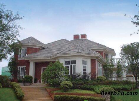 佛山石湾水泥瓦厂 供应优质屋顶水泥彩瓦 屋顶别墅水泥瓦 环保