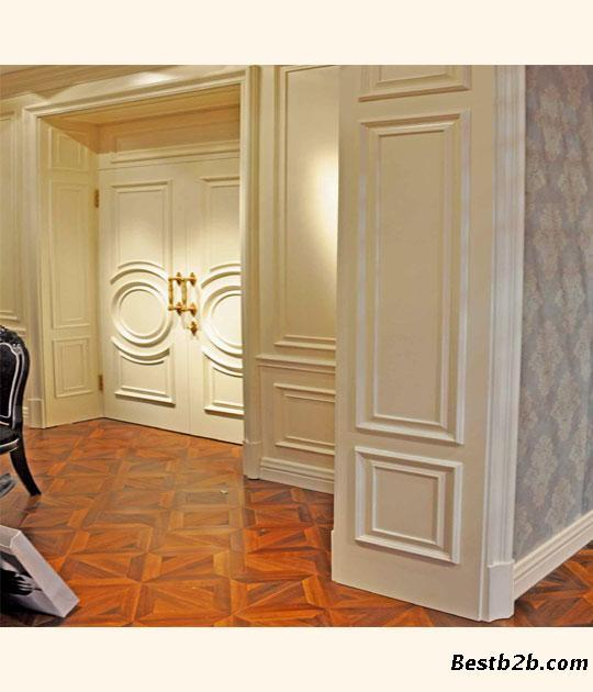 欧宝隆木门品牌欧式实木护墙板高清图片