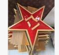 華沃龍徽章廠現貨銷售2米澆筑八一五角星徽