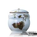 景德鎮陶瓷器帶蓋米缸 茶葉末直筒油缸