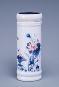 定制景德鎮陶瓷杯保溫杯雙層水杯茶杯帶蓋青花瓷茶杯