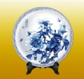 陶瓷摆盘观赏盘定做陶瓷工艺品厂家陶瓷盘子定做高档陶瓷