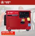 薩登六千瓦靜音220伏柴油發電機工地專用