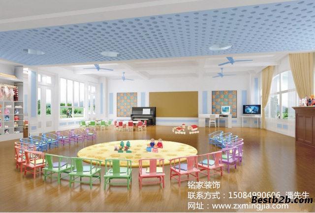 湖南长沙天心区幼儿园门厅装修设计