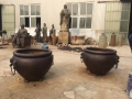 仿古魚缸水缸雕塑純銅大水缸別墅庭院