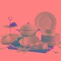 描金青瓷餐具生產廠家 銀行專用貴賓禮品