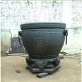 別墅門口純銅缸擺件 純銅大缸雕塑一對