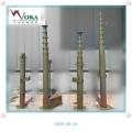 神星牒13米升降避雷針 手動20米碳纖維升降桿