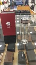 希諾專柜 西安希諾水杯批發雙層玻璃透明不銹鋼保