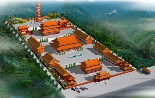 古代各大寺院建筑设计平面图 寺庙设计平面图