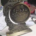 書房辦公桌裝飾擺件金屬浮雕工藝品