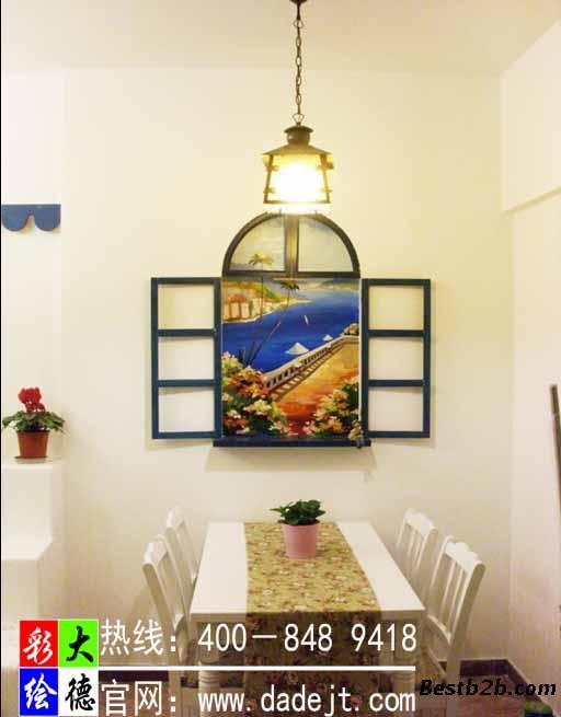 墙体彩绘 家装不同风格墙体彩绘