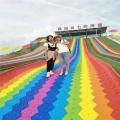 四季游樂項目彩虹滑道 無動力下滑七彩滑道項目