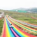 彩虹滑道指導安裝 場地規劃設計七彩滑道