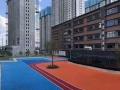 青島市北區透水混凝土壓模地坪彩色防滑路面工程材料供應