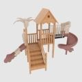 幼兒園戶外大型游樂設施塑料實木制組合滑梯玩具