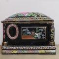 青花瓷壇子喪葬用 陶瓷骨灰盒