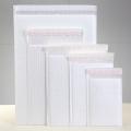 西安供應啞光膜氣泡信封袋奶白色復合服裝書本快遞袋