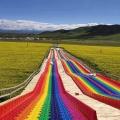 大型網紅滑道 景區彩虹滑道引流項目 熱門游樂設備出售