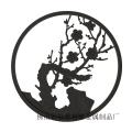 玉樹瓊枝梅花納米色油黑色銅鋁藝雕刻屏風裝飾墻