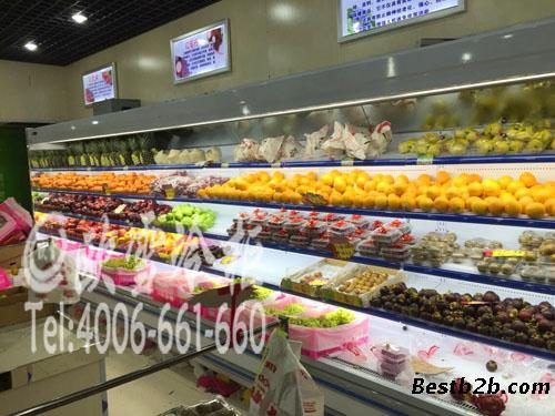 江苏便利店展示柜定做饮料超市水果蔬菜展示柜
